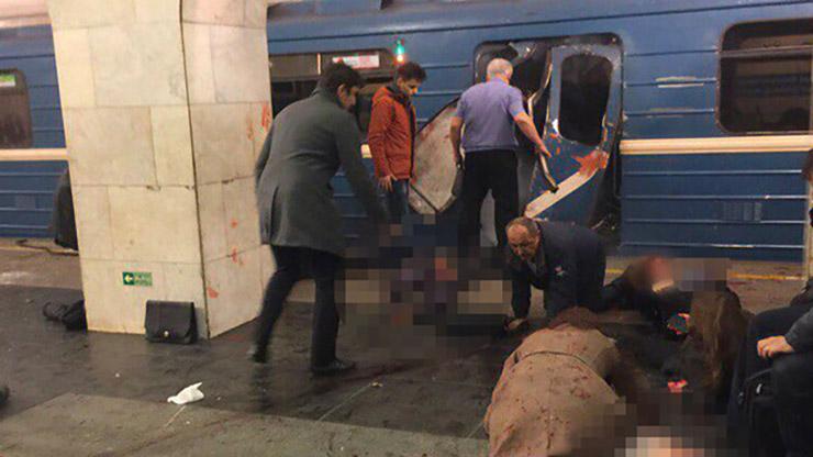 انفجار مرگبار در ایستگاه مترو شهر سن پترزبورگ