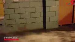 هدررفت آب از شیرهای هیدرانت آتشنشانی + فیلم