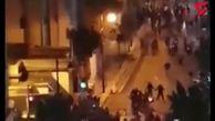 حمله معترضان به خودروها و ساختمان بانک مرکزی لبنان + فیلم
