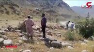 تلاش برای یافتن راننده یک کامیون که به رودخانه ارس سقوط کرده است +فیلم