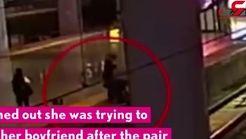 اقدام باورنکردنی زن جوان در ایستگاه قطار! +فیلم