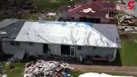 تصاویر هوایی از طوفان دوریان در باهاما + فیلم
