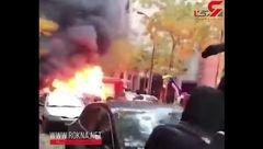 آتش زدن پورشه در خیابان+ فیلم
