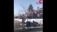 فیلم حمله هولناک سگ ولگرد به مرد جوان