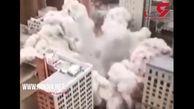 تخریب حرفهای برج غول پیکر به روش مهندسی + فیلم