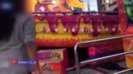 لحظه وحشتناک پرت شدن دختر نوجوان از یک وسایل بازی در شهر بازی! +فیلم