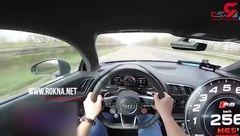 فیلم دلهره آور از رانندگی جنون آمیز با خودروی آئودی +فیلم