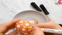 ایدهای جالب برای رنگ آمیزی تخم مرغ + فیلم