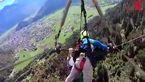 فیلمی زیبا از لحظه پرواز پاراگلایدر +فیلم