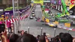 تصادف وحشتناک رانندهی ۱۷ ساله فرمول ۳+ فیلم