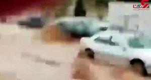 فیلم لحظه نجات مادر و فرزندش در سیل شیراز + تصویر