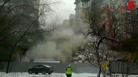 لحظه تخریب ساختمانی که باعث مرگ 39 نفر شده بود+فیلم
