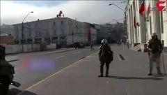 درگیری پلیس شیلی با کارکنان اعتصاب کرده اداره پست + فیلم