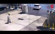 لحظه سقوط ماشین خانم راننده به داخل دریاچه/ به جای ترمز گاز داد !+ فیلم