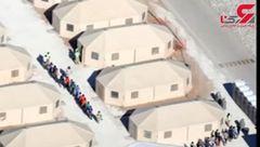 انتشار تصاویری تکاندهنده از مرکز نگهداری کودکان مهاجر در تگزاس آمریکا + فیلم