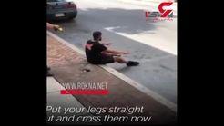 لحظه شلیک پلیس آمریکا  به یک جوان + فیلم