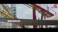 لحظه خارج شدن واگن ترن هوایی از ریل+ فیلم