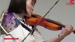 نوازنده ویولن با یک دست+فیلم