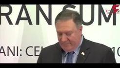 قطع سخنرانی وزیر خارجه آمریکا توسط حامیان صلح با ایران+فیلم