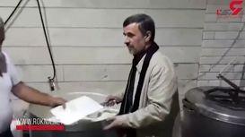 فیلم نذری پخش کردن احمدی نژاد در نارمک