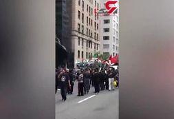 راهپیمایی عزاداران حسینی در منهتن نیویورک+فیلم