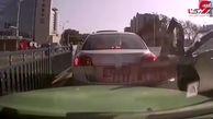 اقدام احمقانه راننده بی ملاحظه سوژه مردم شد+فیلم / چین