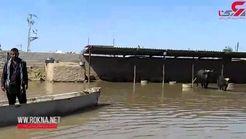 اینجا ونیز نیست! /زیرآب رفتن روستاهای خوزستان با رهاسازی آب سدها  + فیلم