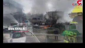 فیلم لحظه انفجار وحشتناک در اسرائیل + جزییات