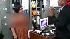 فیلم ضرب و شتم مامور فرودگاه توسط زن جوان