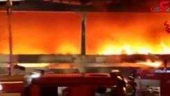 آتش سوزی مهیب در محل انباشت زباله در میلان + فیلم