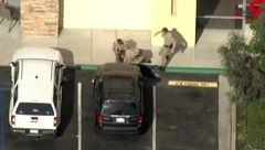 کار خطرناک پلیس هنگام دستگیری سارق کامیون + فیلم