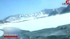 دردسر تفریح خطرناک روی رودخانه یخ زده برای خانواده بی ملاحظه+ فیلم
