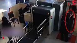 شیطنت یک دختربچه حین عبور از ایکس ری + فیلم
