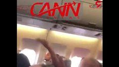 دعوای شدید یک زن و مرد در  پرواز  هواپیمایى ماهان / مسافران چه گفتند! + فیلم
