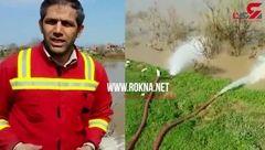 جلال ملکی سخنگوی آتش نشانی تهران از عملیات در مناطق سیل زده گلستان گفت + فیلم