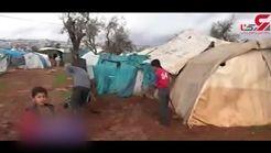 وضع دشوار آوارگان سوری در مرز با ترکیه + فیلم