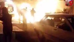 آتشسوزی پژو پرشیا در «قرچک» + فیلم