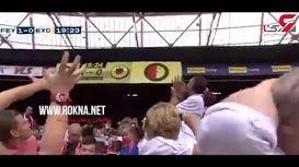 غافلگیری کودکان از اقدام تحسین برانگیز و جالب هواداران یک تیم فوتبال + فیلم