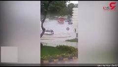 خیابان های دزفول زیر آب رفت+فیلم