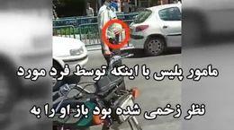 جدیدترین فیلم از لحظه بازداشت امام زمان قلابی در اصفهان توسط پلیس زخمی