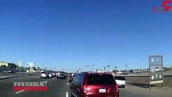 لحظه تصادف شدید  با 3 خودرو هنگام پیامک زدن + فیلم