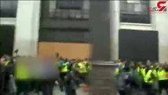 درگیری پلیس با جلیقه زردها در دومین شنبه سیاه پاریس + فیلم