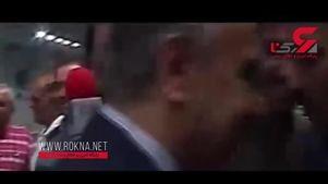 رفتار عجیب یکی از همراهان وزیر ورزش دولت روحانی + فیلم