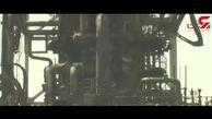 اولین فیلم از پالایشگاه  عربستان که داغون شده است