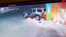 این مرد  پمپ بنزین را به آتش کشید + تصویر