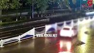 دو تصادف شدید عابر پیاده در کمتر از چند ثانیه! +فیلم