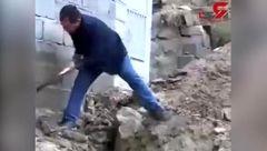 فیلم جاری شدن سیل در  بستان آباد تبریز