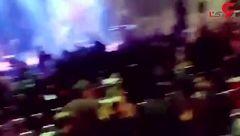 آتش سوزی در کنسرت سون باند در محمودآباد  + فیلم