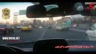 لت و پار شدن دزد تهرانی در تعقیب و گریز پلیسی + فیلم لحظه حادثه