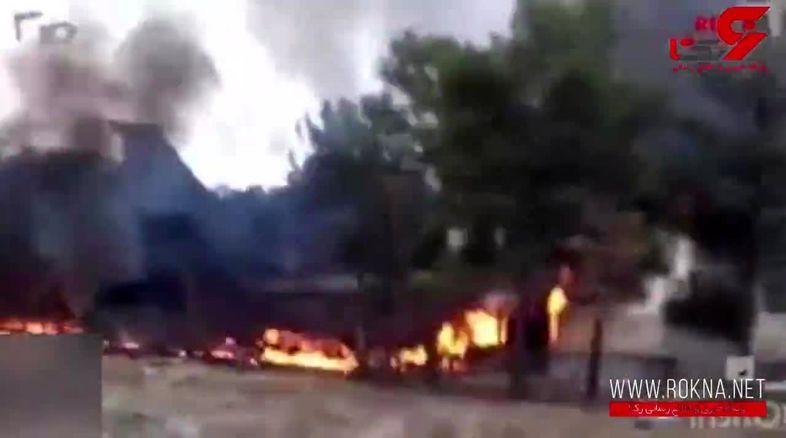 فیلم لحظه نجات تنها بازمانده حادثه سقوط هواپیما / این جوان کرجی فرشته نجات شد